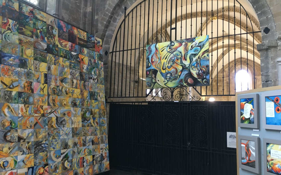 Frieda Hughes exhibition in Chichester Cathedral